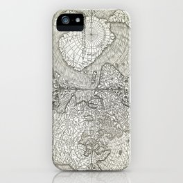 "World map ""Nova et integra universi orbis descriptio"" By Oronce Fine, dated 1532 iPhone Case"