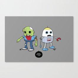 Zombie+Bot Canvas Print