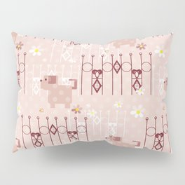 Little puppy. Texture children. Pillow Sham