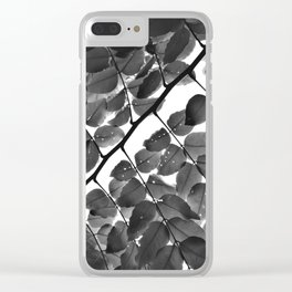Nobody's Perfect Monochrome Clear iPhone Case