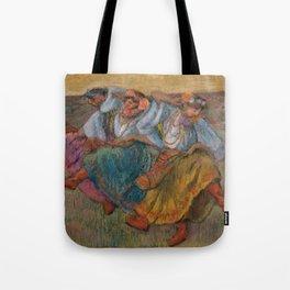 """Edgar Degas """"Russian dancers"""" Tote Bag"""