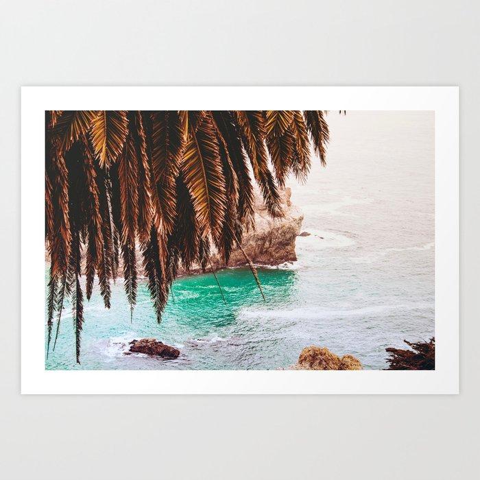vintage ocean palm tree art print by followmeaway society6