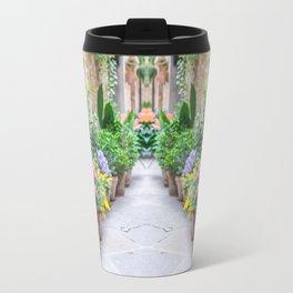 Flower-Lined Street Travel Mug