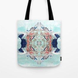 Hokusai Mandala Tote Bag