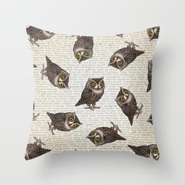 Otus pocus Throw Pillow
