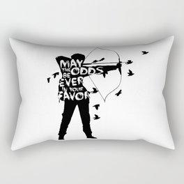 the Girl on Fire Rectangular Pillow