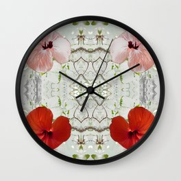 Passion for red_white symmetry Wall Clock