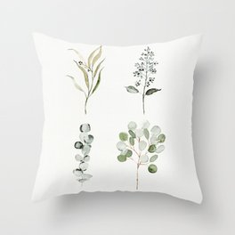 Eucalyptus Branches Throw Pillow