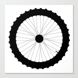 Bicycle Wheel Silhouette Canvas Print
