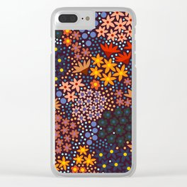 Midnight Spring Garden, Floral Clear iPhone Case