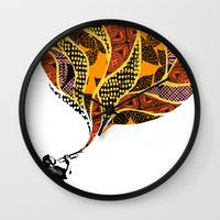 trumpet Wall Clocks featuring Trumpet by VickiJohnson
