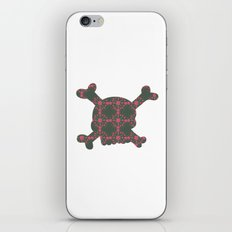 pattern with skull iPhone & iPod Skin