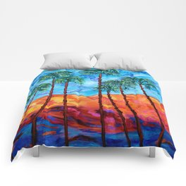 California Palm Trees Comforters
