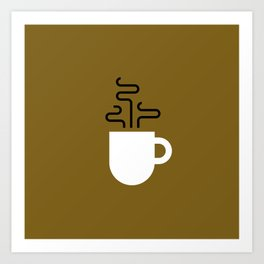 Coffee Cup Gold Art Print