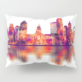 Austin Texas Skyline Pillow Sham