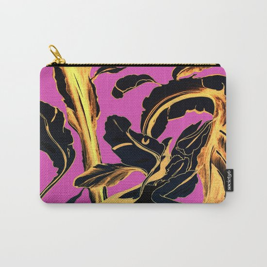 Golden Succulent on Fuchsia Carry-All Pouch