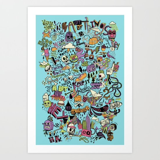 For the love of drawing Art Print