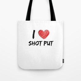 I Love Shot Put Tote Bag