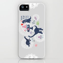 Dinosaur Jello Debutante Party iPhone Case