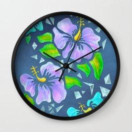 Flor De Maga - Cool Colors Wall Clock