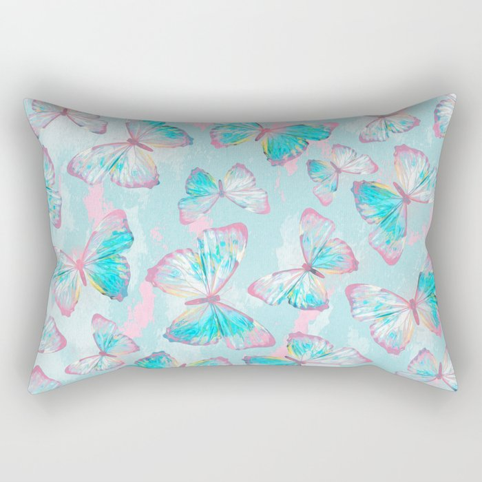 BUTTERFLIES BLUE Rectangular Pillow