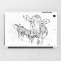 cows iPad Cases featuring Cows by George Terry