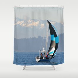 Sailing the Pacific Northwest Shower Curtain
