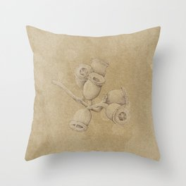 Gum Nut Pods Throw Pillow