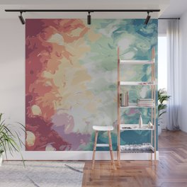 Brush Strokes Abstract Art Design Wall Mural