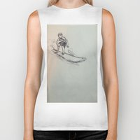 surfing Biker Tanks featuring SURFING by Katyb