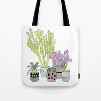 cactus Tote Bags featuring Cactus by Olivia James