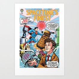 Spacetime's Finest No. 3 Art Print