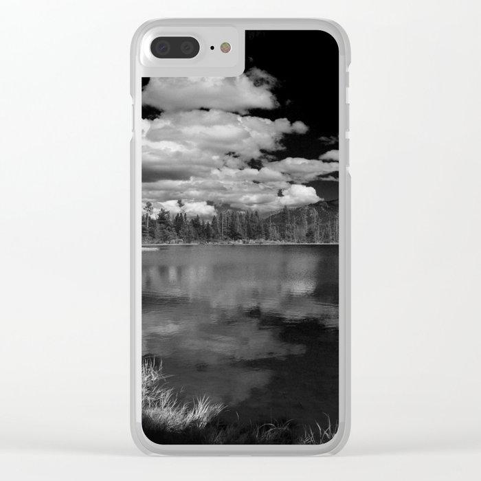 Sprague Lake under Clouds Clear iPhone Case