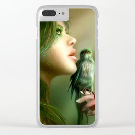 Green Whisper Clear iPhone Case
