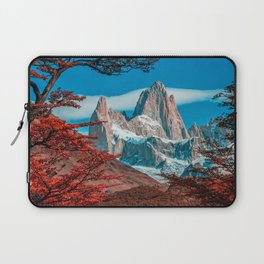 Monte Fitz Roy HDR autunm mountains Patagonia Argentina South America beautiful nature Laptop Sleeve