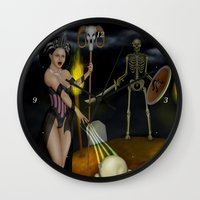 skeleton Wall Clocks featuring Skeleton by Egberto Fuentes