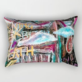 Degrees of Separation - Neo Expressionism painting Rectangular Pillow