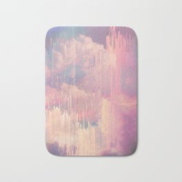 Candy Glitched Sky Bath Mat