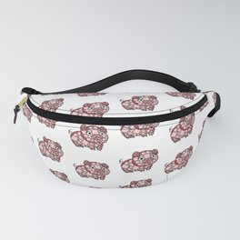 So ManyPiggy Piggy Oink Oinks - Cute Pigs - Abstract Shapes Fanny Pack