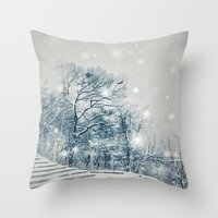 outdoor Throw Pillows featuring Outdoor Theater by Artist pIL