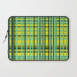 Checkered yellow green Design Laptop Sleeve
