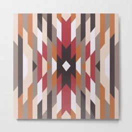 American Native Pattern No. 169 Metal Print