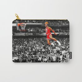 Infamous Jumpman Free Throw Line Dunk Poster Wall Art, MichaelJordan Poster Carry-All Pouch