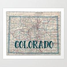 Colorado Map Art Print
