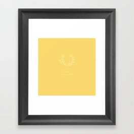A Glad And Humble Cheer Pale Gold Framed Art Print