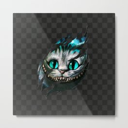 Chesire - Smile Metal Print