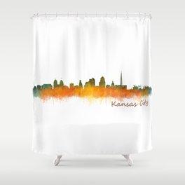Kansas City Skyline Hq v2 Shower Curtain