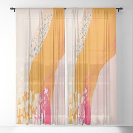 The Abstract Shape Of Spring Sheer Curtain