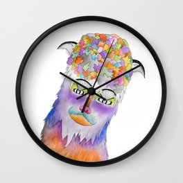 Psychic Bison Cat Wall Clock