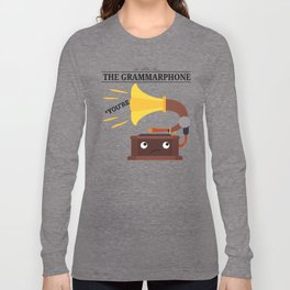The Grammarphone - Funny Gramophone Wordplay Long Sleeve T-shirt